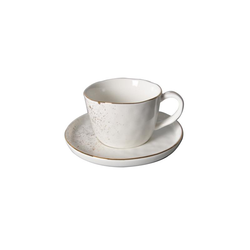 Golden sparkle- aranyozott peremmel díszített csésze és csészealj (Kicsi)