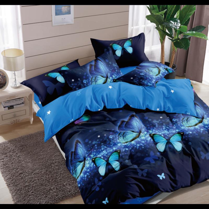 3 részes Blue Papilon éjkék ágyneműhuzat garnitúra