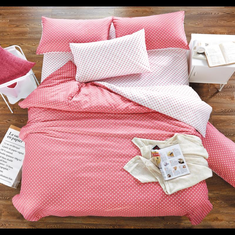 3 részes Rózsaszín apró pöttyös  ágyneműhuzat