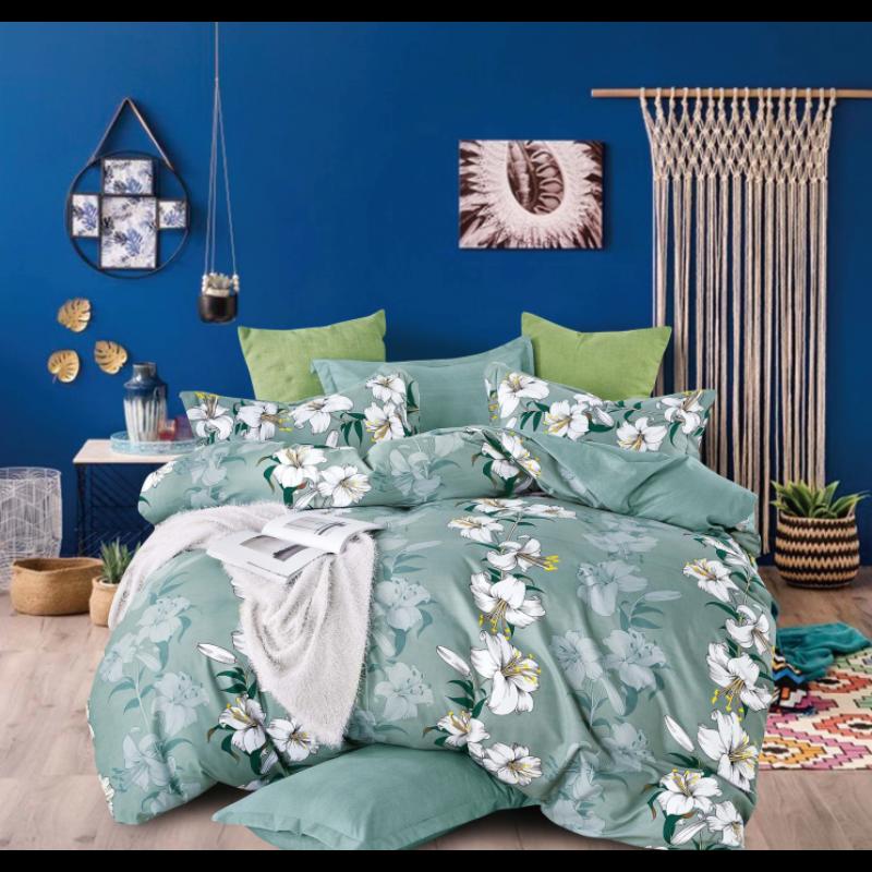 7 részes Green Lily Dreams ágyneműhuzat garnitúra