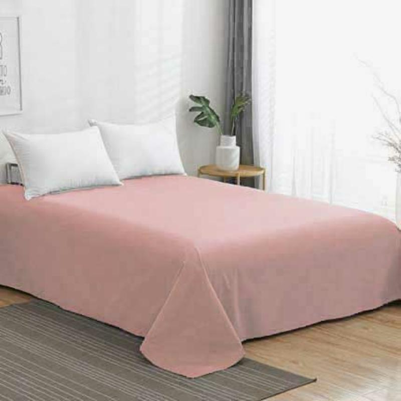 Egyszínű világos rózsaszin lepedő