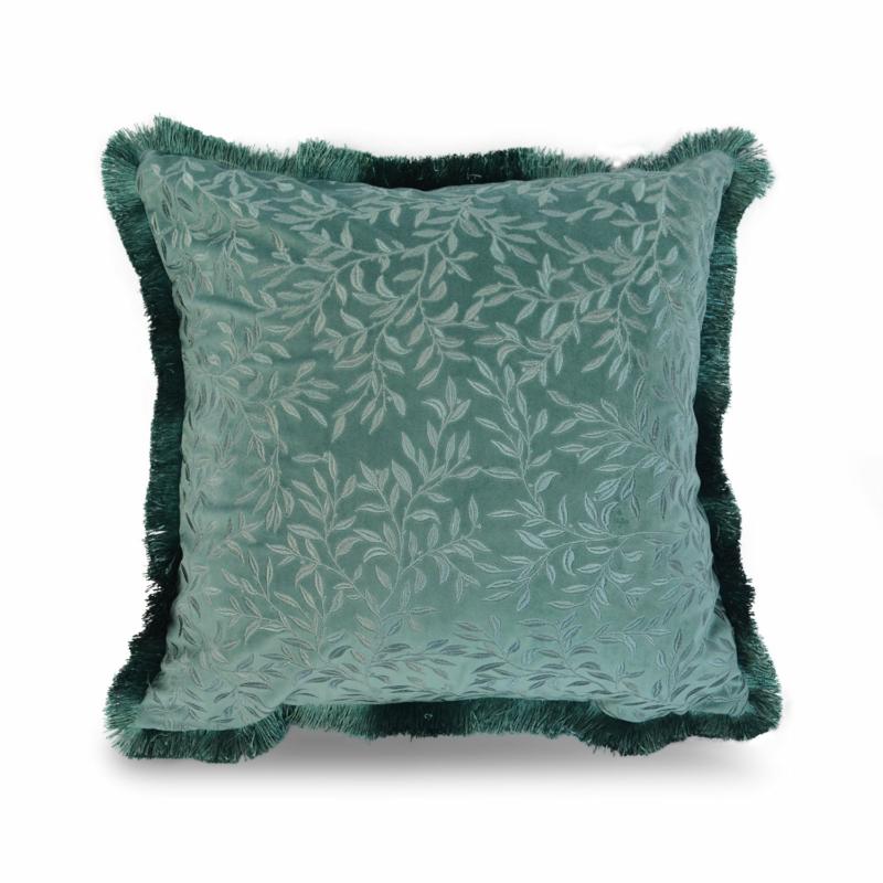 zöld színű növény mintázatú díszpárnahuzat