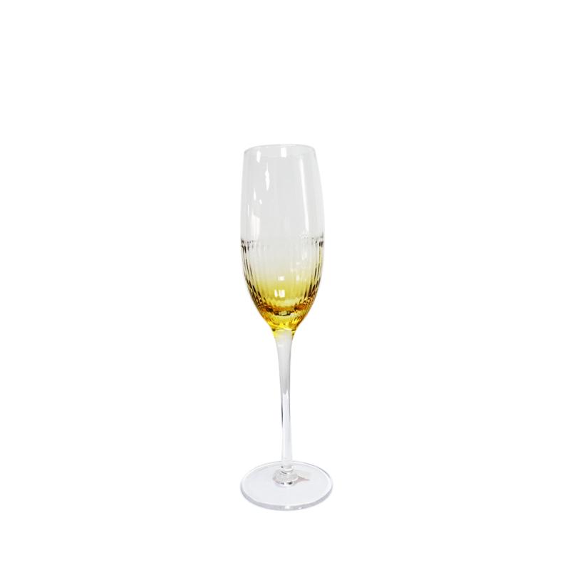 Amarillo - Átlátszó arany színű pezsgős pohár