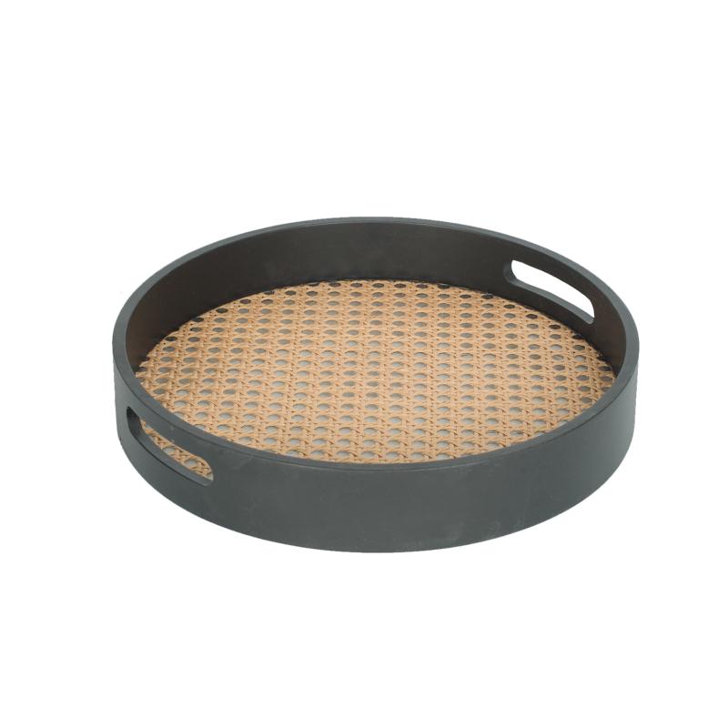 NINFEA fekete kör alakú kínáló tálca ⌀ 25,5 cm