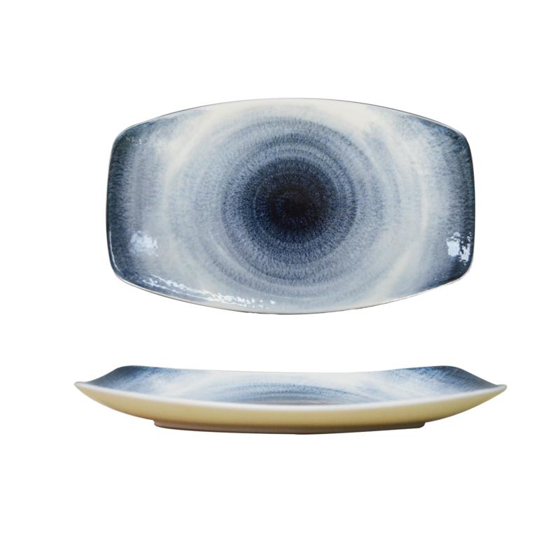 Hush - Hurrikán mintás kék tányér